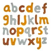 Natural Felt Alphabet Set