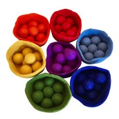 Rainbow Felt Ball and Bowl Set