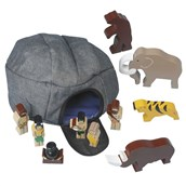 Sri Toys Wooden Caveman Adventure Set