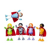 Tidlo Superhero Figures - Pack of 5