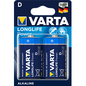 Battery Alkaline Manganese Size D - pack of 2