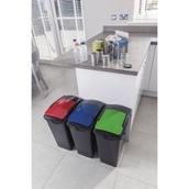 Black 40 litre Recycling Bin - Base