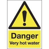 Danger - Very Hot Water Sign