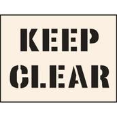 Keep Clear Stencil