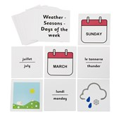 French Flash Cards Weather, Months and Days