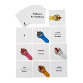 French Flash Cards - Colours and Numbers