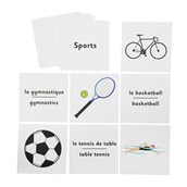 French Flash Cards - Sports
