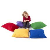 Floor Cushions - Primary Colours - Set of 5