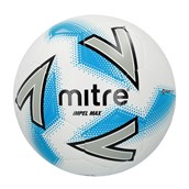 Mitre Impel Max Football - White/Silver/Blue - Size 3