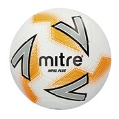 Mitre Impel Plus Football - White/Silver/Orange - Size 3