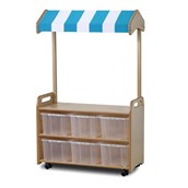 Millhouse Mobile Unit With Shop Canopy and Clear Tubs