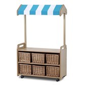 Millhouse Mobile Unit With Shop Canopy and Wicker Baskets