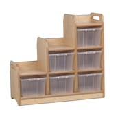 Millhouse Stepped Storage Unit - Right - Clear Tubs