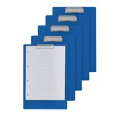 Recycled Clip Board Blue A5 - Pack of 5
