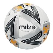 Mitre Ultimatch Max Football - White/Silver/Orange - Size 4