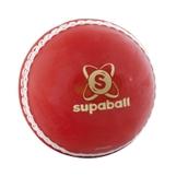 Readers Supaball Cricket Ball - Red - Junior