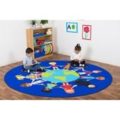 Children of the World Large Multi-Cultural Carpet