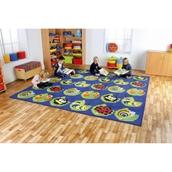 Large Square Bug Placement Carpet