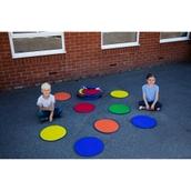 Rainbow Circle Outdoor Mats - Set of 30