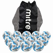 Mitre Impel Max Football - White/Silver/Blue -  Size 3 - Pack of 12
