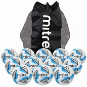 Mitre Impel Max Football - White/Silver/Blue - Size 5 - Pack of 12