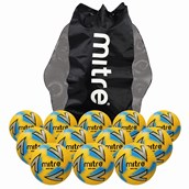 Mitre Impel Max Football - Yellow/Silver/Blue - Size 3 - Pack of 12