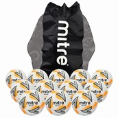 Mitre Impel Plus Football - White/Silver/Orange - Size 3 - Pack of 12