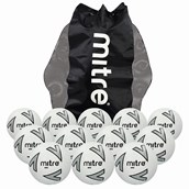 Mitre Impel Football - White/Silver/Black - Size 4 - Pack of 12