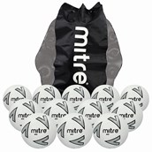 Mitre Impel Football - White/Silver/Black -  Size 5 - Pack of 12