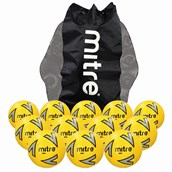 Mitre Impel Football - Yellow/Silver/Black - Size 3 - Pack of 12
