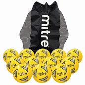 Mitre Impel Football- Yellow/Silver/Black - Size 4 - Pack of 12