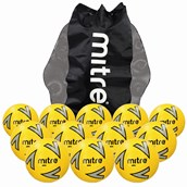 Mitre Impel Football - Yellow/Silver/Black - Size 5 - Pack of 12