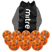 Mitre Impel Football - Orange/Silver/Black - Size 3 - Pack of 12