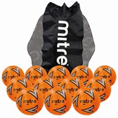 Mitre Impel Football - Orange/Silver/Black - Size 5 - Pack of 12