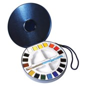 Daler Rowney Aquafine Watercolour Half Pan - Set of 18