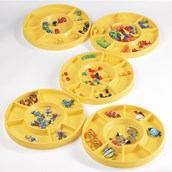 Round Sorting Tray - Pack of 5