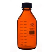 Simax® Screw Top Reagent Bottle, Amber Glass: 1000ml - Pack of 10