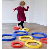 Giant Sensory Rolling Rings - Set of 9