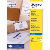 White Avery Jam-Free Quick PEEL Labels - 2 Labels, 199.6 x 143.5mm