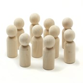 Wooden Peg People - Large