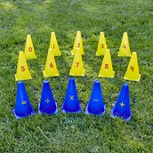 Number and Symbol Cones Pack of 15.
