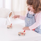 Bigjigs Toys Wooden Pull Back Planes
