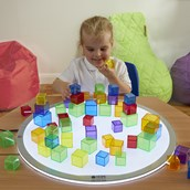 Translucent Coloured Blocks from Hope Education - Pack of 90