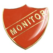 Monitor Shield Badge - Red