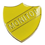 Monitor Shield Badge - Yellow