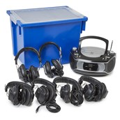 Group Listener CD Player and 6 Headphones from Hope Education