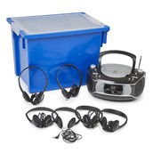 Group Listener CD Player and 6 Lightweight Headphones from Hope Education