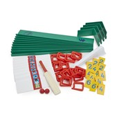 Table Cricket Field Sections - Green - Pack of 10