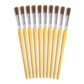 Golden Nylon Paint Brush - Size 12 - Pack of 10