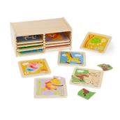 Jigsaw Set with Storage - 4 Piece